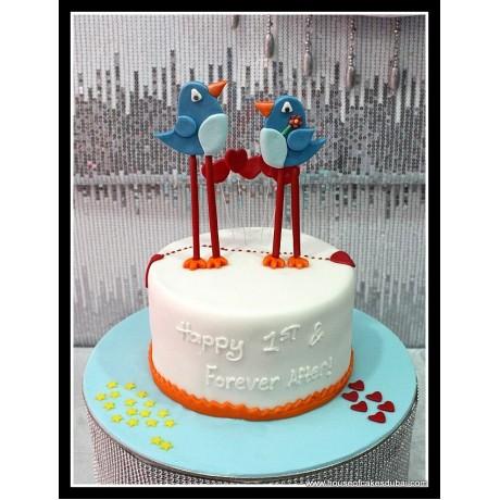 Blue Birds Cake