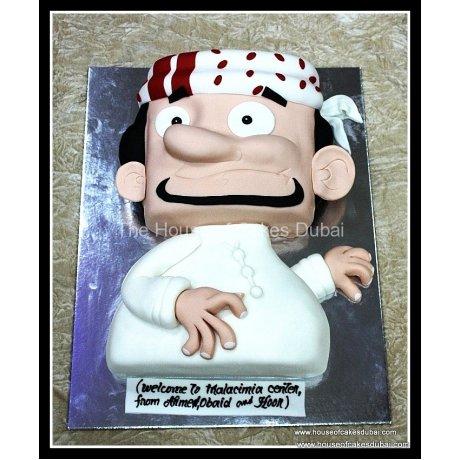 Arab men cake 2