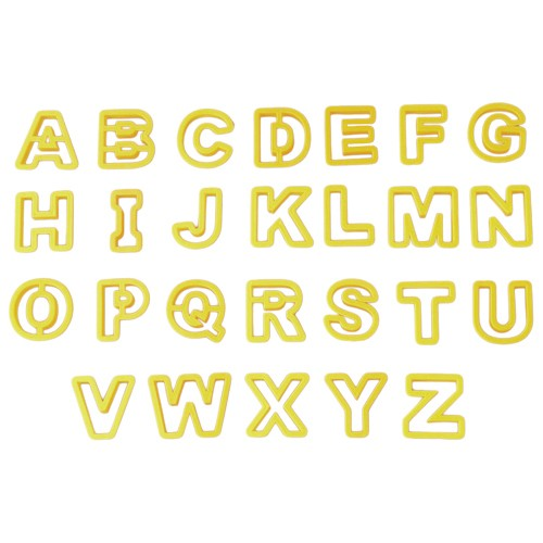 Alphabet Pastry Cookie Cutter Set