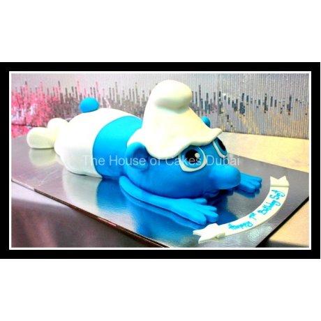 3D Smurf Cake