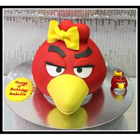 angry bird cake - red 7