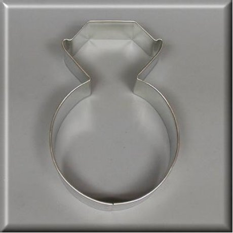 """3.75"""" Diamond Ring Cookie Cutter"""