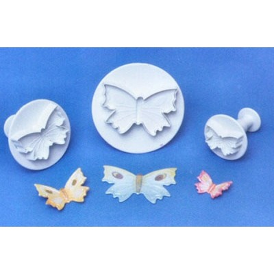 PME Butterfly Veined Plunger Cutter Set of 3