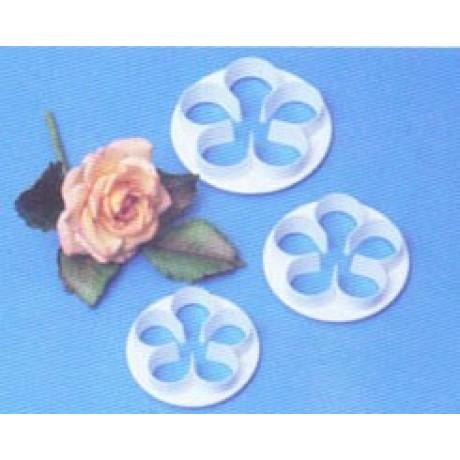 pme plastic cutter 5 petal large - 3 pcs set 6