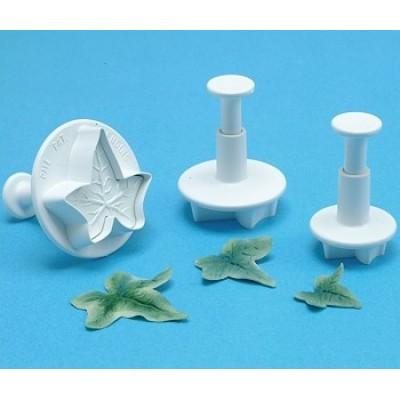 PME plunger cutter ivy leaf large - set of 3