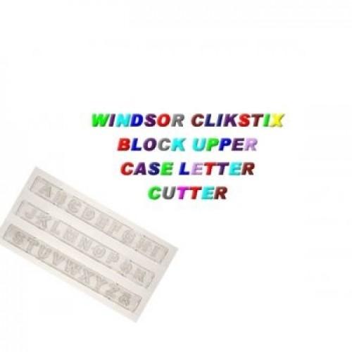 block upper case letter clikstix 7