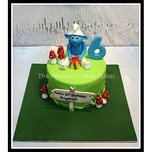 Smurf cake 7
