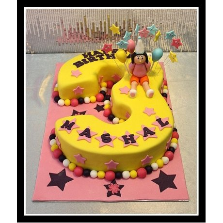 3rd Birthday Dora cake