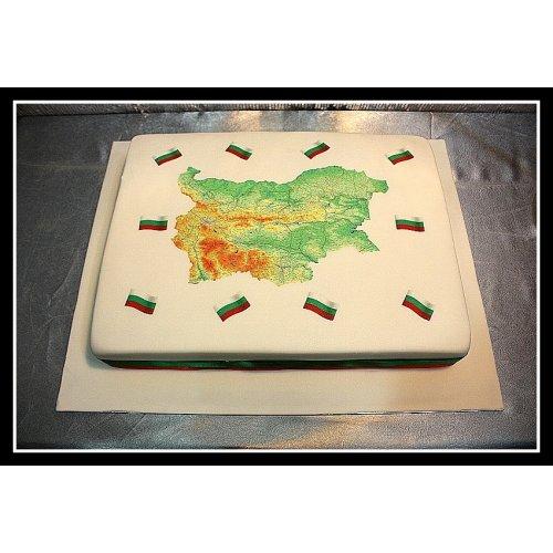 Bulgarian Map Cake