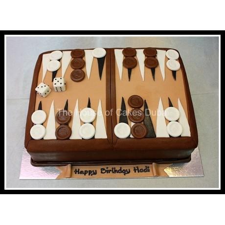 Backgammon cake 2
