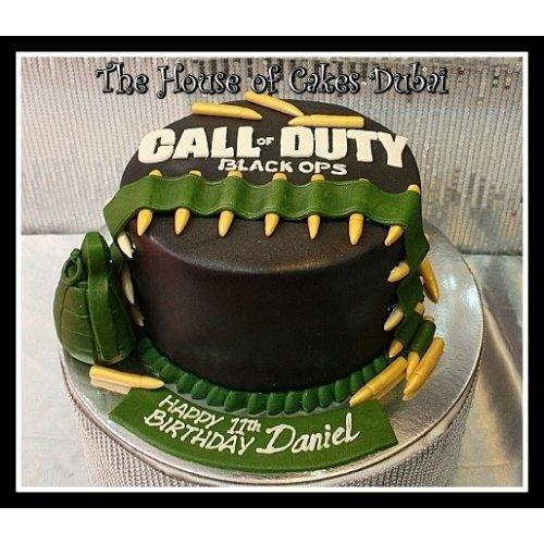 Brilliant Call Of Duty Cake 2 Personalised Birthday Cards Bromeletsinfo