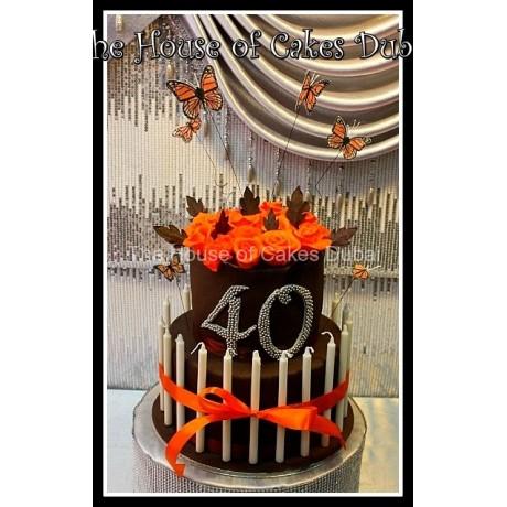 Black and orange cake