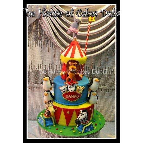 circus cake with animals 7