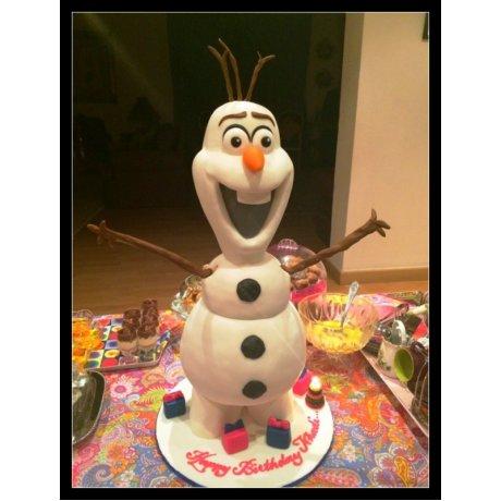 3d olaf cake 7