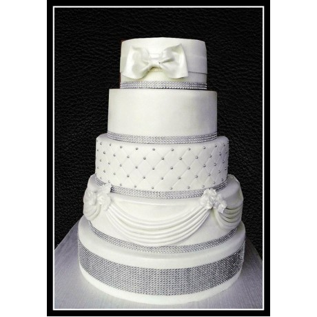 white and silver wedding cake 7