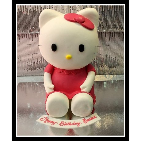 3D Hello Kitty Cake and mini cakes