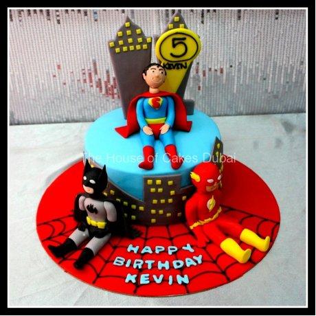 superheroes cake 14 7