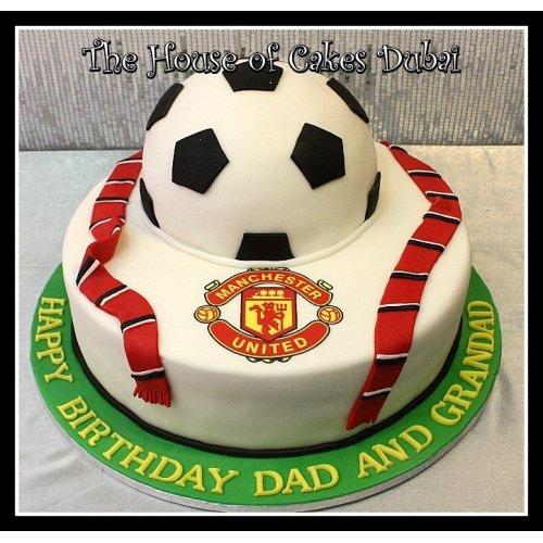 Prime Manchester United Cake 7 Birthday Cards Printable Nowaargucafe Filternl