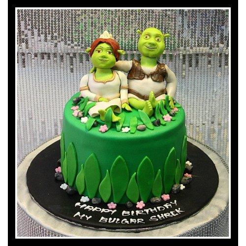 Super Shrek Fiona Cake Funny Birthday Cards Online Elaedamsfinfo