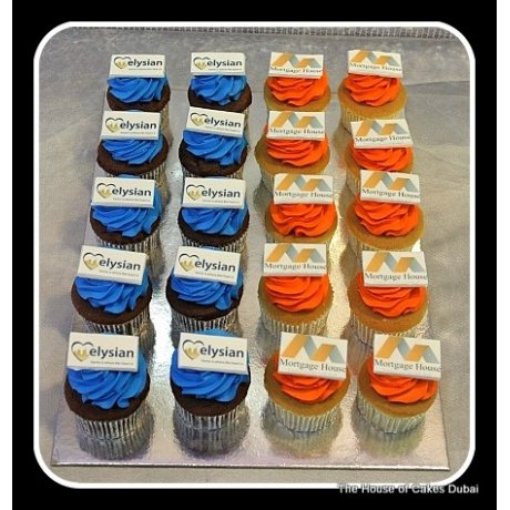 Cupcakes with company logo 3