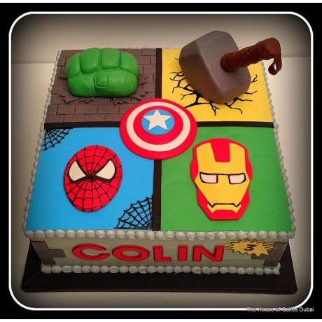 Avengers cake 6