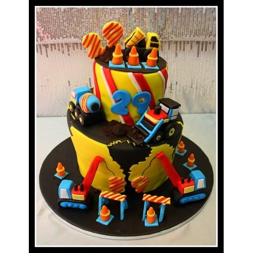 construction theme cake 1 7