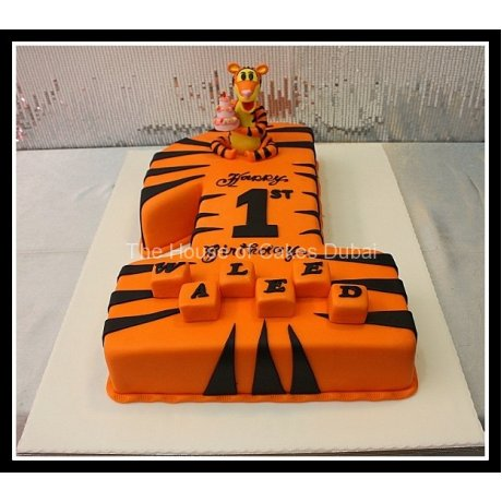 first birthday cake tigger 8