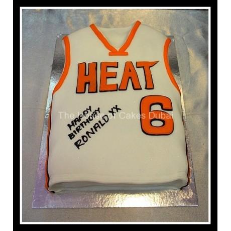 Basketball jersey cake 1