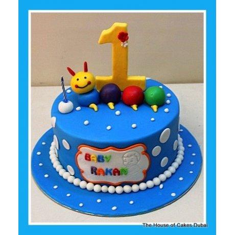 baby caterpillar cake 8