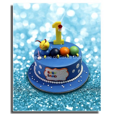 baby caterpillar cake 7