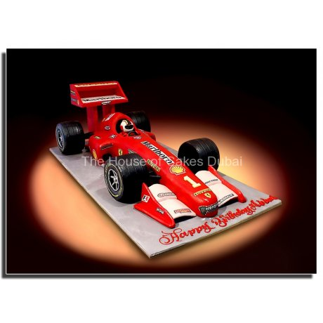 Ferrari racing car cake