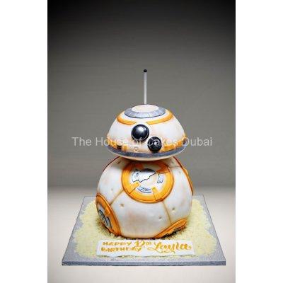 BB-8 droid robot cake