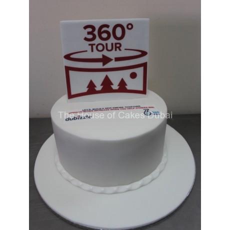 360 logo cake