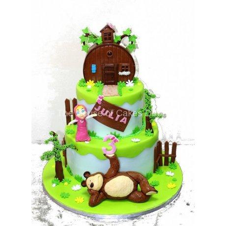 masha and the bear cake 2 7
