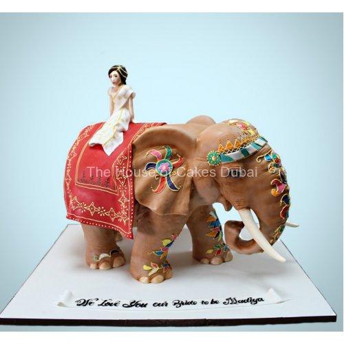 3D Elephant cake