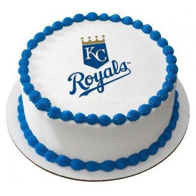 Round corporate cake with logo 2