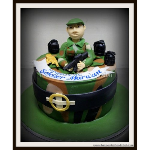 Cool Soldier Military Cake Funny Birthday Cards Online Aeocydamsfinfo