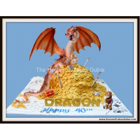 3D Dragon Cake 2