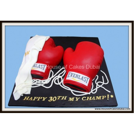 Boxing gloves cake 3
