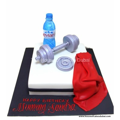 Weights lifting cake 1