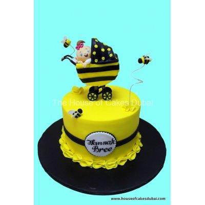 Bee baby cake