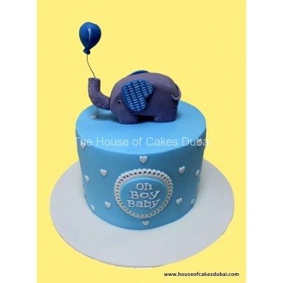 Oh Baby elephant cake
