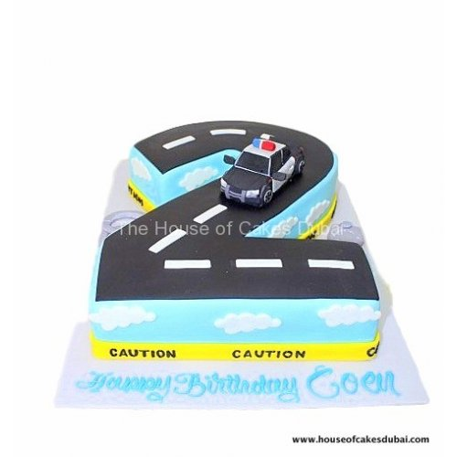 cake shape 2 with police car 7