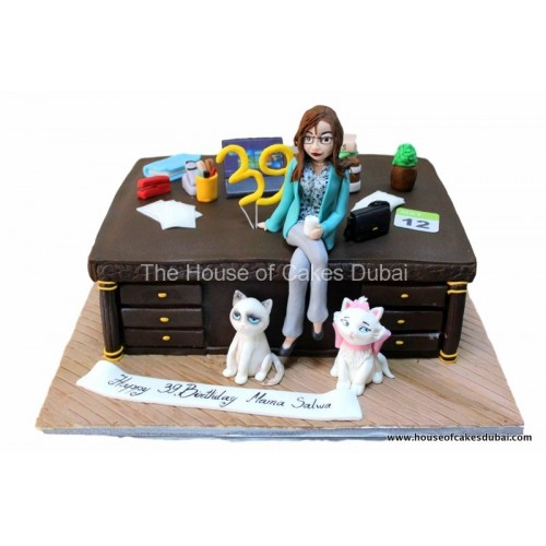 desk and cats cake 7