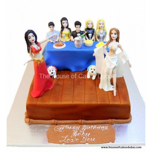 cake with belly dancers 7