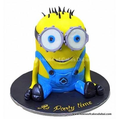 Two eyed minion cake