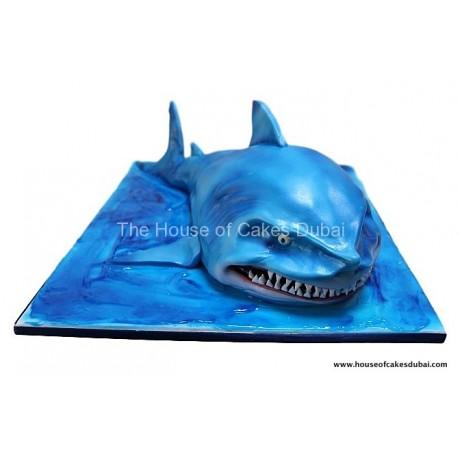 Bruce the shark cake
