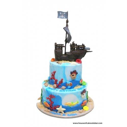 Pirate Ship Cake 2