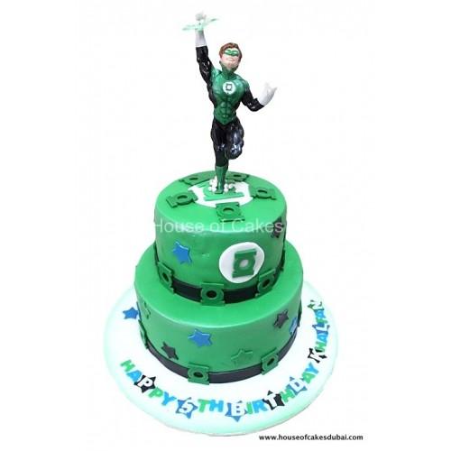 Excellent Green Lantern Cake Funny Birthday Cards Online Amentibdeldamsfinfo