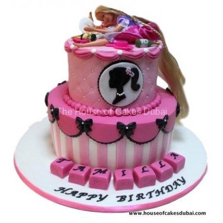 drunk barbie cake 6